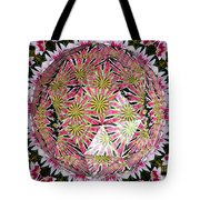 Tulips Kaleidoscope Under Polyhedron Glass Tote Bag