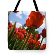 Tulips Leaning Tall Tote Bag