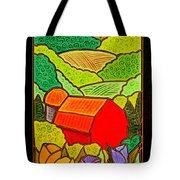 Tulips On A Farm In Springtime Tote Bag