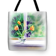 Tulips On The Window Tote Bag