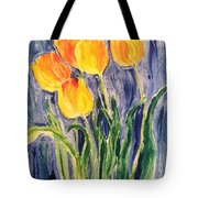 Tulips Tote Bag by Sherry Harradence