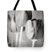 Tulips Still Life In Black And White Tote Bag