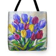 Tulips Time Love The Spring By Prankearts Tote Bag