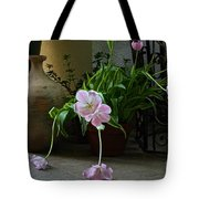 Tulips With Earthenware Jar And Wrought Iron Tote Bag