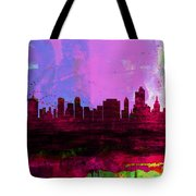 Tulsa Watercolor Skyline 2 Tote Bag