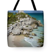 Tulum - Mayan Temple Tote Bag