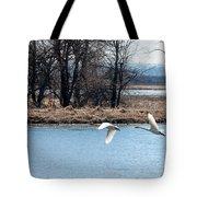 Tundra Swan Flight Tote Bag