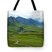 Tundra View From Eielson Visitor's Center In Denali Np-ak  Tote Bag