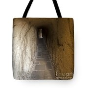 Tunnel At Meteora Monastery   #9763 Tote Bag