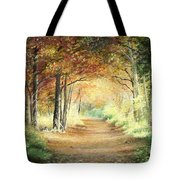 Tunnel In Wood Tote Bag