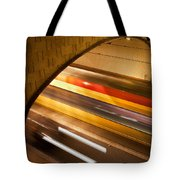 Tunnel Light Trails Tote Bag