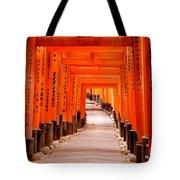 Tunnel Of Torii Gates, Fushimi Inari Tote Bag