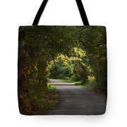 Tunnel Of Trees And Light Tote Bag