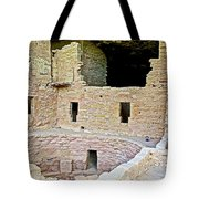 Tunnel Opening In Kiva Of Spruce Tree House On Chapin Mesa In Mesa Verde National Park-colorado  Tote Bag