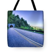 Tunnel Through Mountains On Blue Ridge Parkway In The Morning Tote Bag