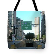 Tunnel To New York 2929 Tote Bag