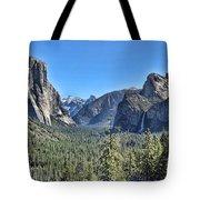 Tunnel View At Yosemite Tote Bag
