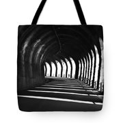 Tunnel With Shadows Tote Bag