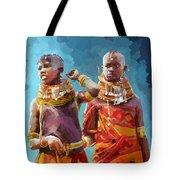 Young Turkana Girls Tote Bag