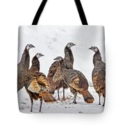 Turkey Family Standing Tall Tote Bag