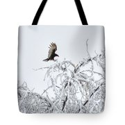 Turkey Vulture In The Snow Tote Bag