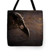 Turkey Vulture Skull On Slate Tote Bag