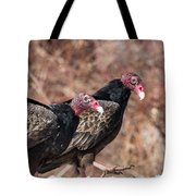 Turkey Vultures Square Tote Bag