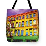 Turn Left At The Brick Building That Looks Like A Bad Acid Trip Tote Bag