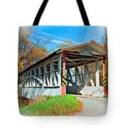 Turner's Covered Bridge Vignette Tote Bag