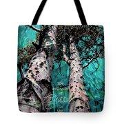 Turquois Trees  Tote Bag