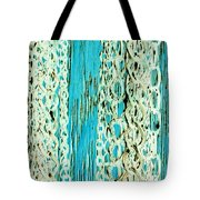 Turquoise Chained Tote Bag