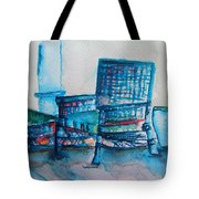 Turquoise Check In Tote Bag