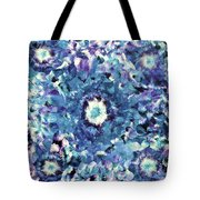 Turquoise Cloud Tote Bag