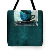 Turquoise Cups Tote Bag