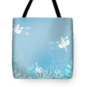 Turquoise Dragonfly Art Tote Bag