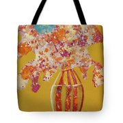 Turquoise Flower Tote Bag