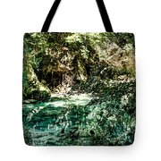 Turquoise Forest Pond On A Summer Day No1 Tote Bag