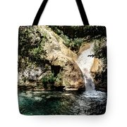 Turquoise Forest Pond On A Summer Day No2 Tote Bag
