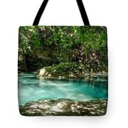 Turquoise Forest Pond On A Summer Day No3 Tote Bag