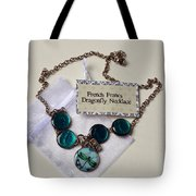 Turquoise French Francs Dragonfly Necklace Tote Bag