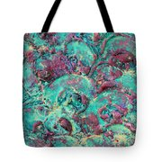 Turquoise 3d Sculpting Abstract Painting Tote Bag