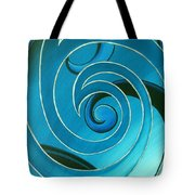 Turquoise Glass Koru Tote Bag