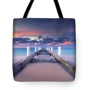 Turquoise Paradise Tote Bag by Marco Crupi
