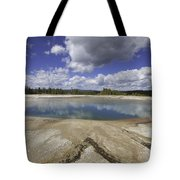Turquoise Pool In Yellowstone National Park Tote Bag