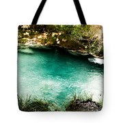 Turquoise River Waterfall And Pond Tote Bag