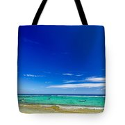 Turquoise Sea And Blue Sky Tote Bag