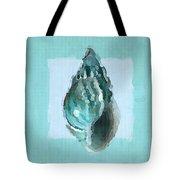 Turquoise Seashells V Tote Bag by Lourry Legarde