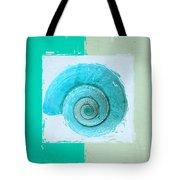 Turquoise Seashells X Tote Bag