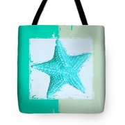 Turquoise Seashells Xi Tote Bag by Lourry Legarde