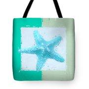 Turquoise Seashells Xiii Tote Bag by Lourry Legarde